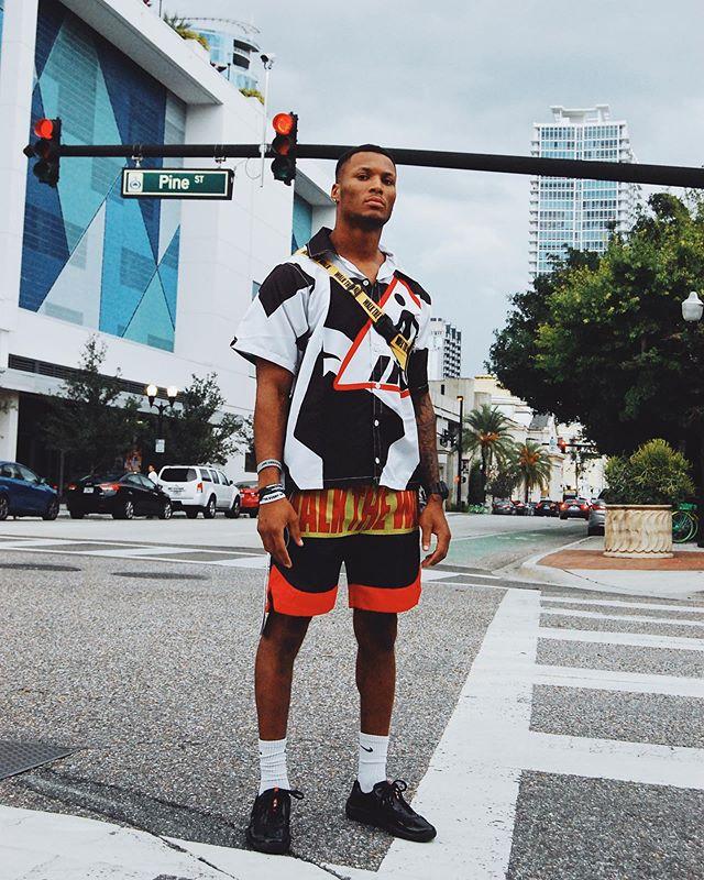 Man Wearing Walk The Walk Brand