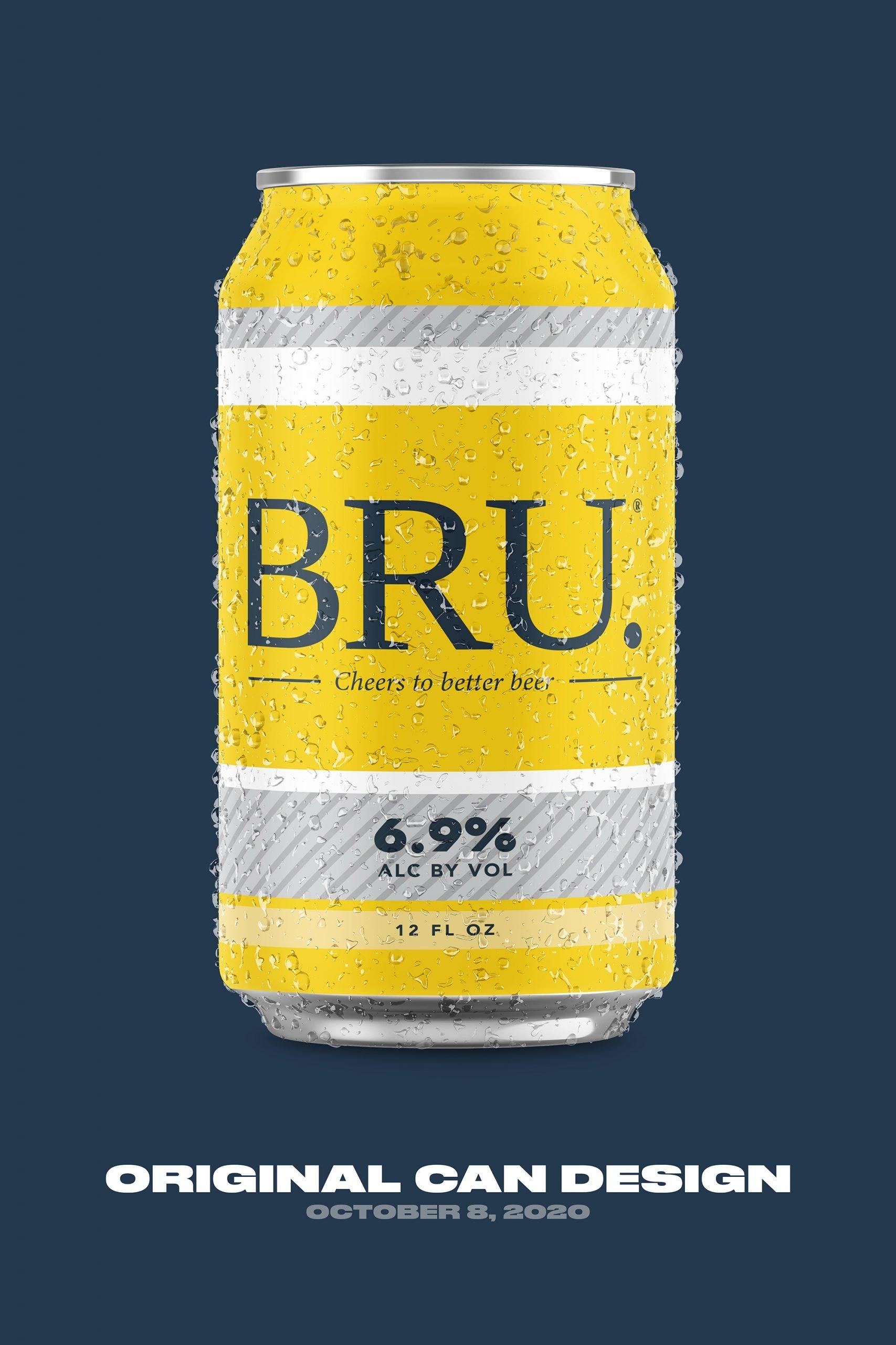 BRU Beer Can Design