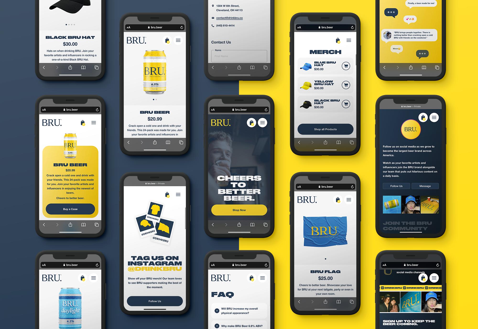 BRU Mobile Website