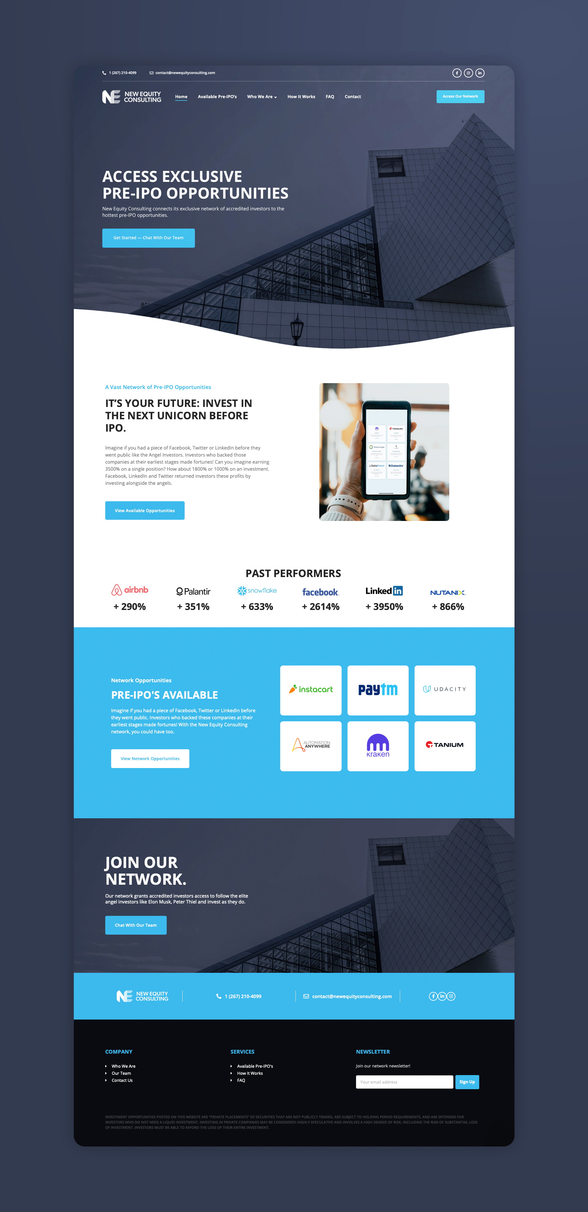 New Equity Consulting Full Website Image
